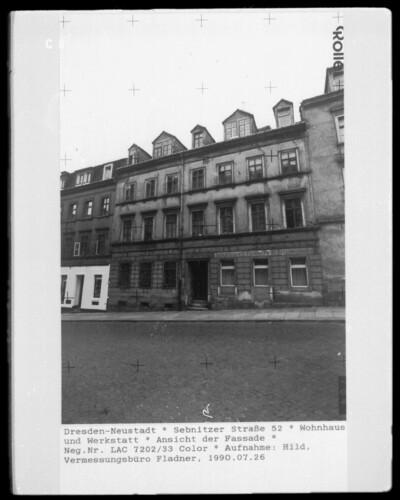 Wohnhaus Werkstatt, Dresden - Neustadt (Dresden), Sebnitzer Straße 52