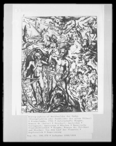 Hieroglyphica of Merkbeelden der Ouden (Hieroglyphica oder Denkbilder der alten Völker) — Von dem Lauf der Planeten