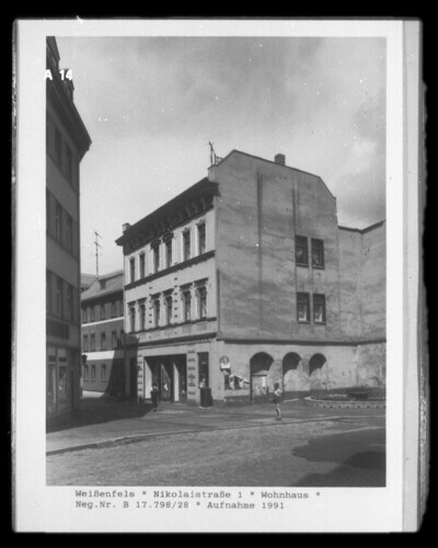 Wohnhaus, Weißenfels (Kreis Weißenfels), Nikolaistraße 1