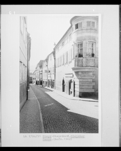 Straße, Steyr - Steyrdorf, Gleinker Gasse