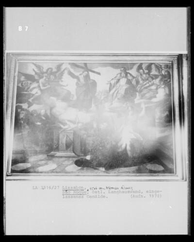 Vision Christi eines Heiligen (?)