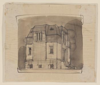 Villenkolonie Westend, Posen: Entwurfszeichnung einer Villa