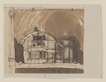 Villenkolonie Westend Posen: Entwurfszeichnung einer Villa