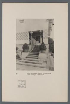 Haus Olbrich, Darmstadt: Aufgang zur Piazza (Blatt 24 aus den