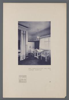 Haus Olbrich, Darmstadt: Wohnzimmer (Blatt 6 aus den