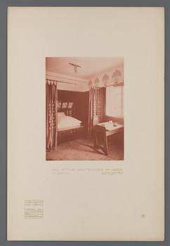 Haus Olbrich, Darmstadt: Rotes Gastzimmer, Bettseite (Blatt 8 aus den