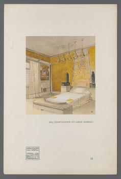 Haus Olbrich, Darmstadt: Schlafzimmer (Blatt 10 aus den