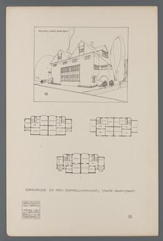 Doppelwohnhaus Stade, Darmstadt: Grundrisse (Blatt 79 aus den