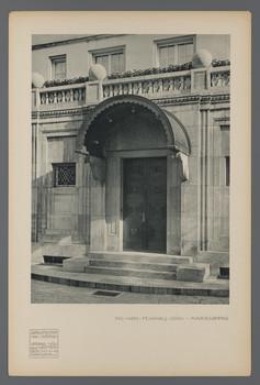 Das Haus Feinhals, Köln-Marienburg: Ansicht des Eingangs (Blatt aus den