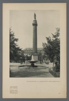 Luisenplatz in Darmstadt: Springbrunnen (Blatt III.66 aus den Wasmuth-Mappen, Verlag Ernst Wasmuth, Berlin)