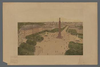 Luisenplatz in Darmstadt: Ansicht (Blatt 64 aus den