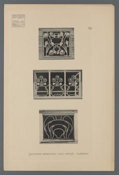 Haus Olbrich, Darmstadt: Schmiedearbeiten (Blatt 110 aus den Wasmuth-Mappen, Bd. 2, Verlag Ernst Wasmuth, Berlin)