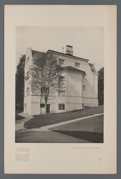 Haus Glückert, Darmstadt: Ansicht von Südosten (Blatt 56 aus den
