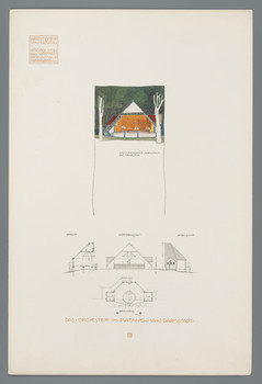 Darmstadt, Mathildenhöhe: Das Orchester im Platanenhain (Blatt 15 aus den