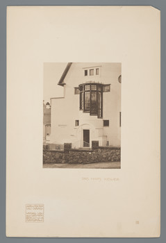 Darmstadt, Mathildenhöhe: Haus Keller, Eingangssituation (Blatt 51 aus den