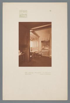 Haus Olbrich, Darmstadt: Großes Fenster im Grünen Zimmer (Blatt 11 aus den