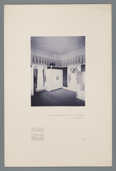 Haus Olbrich, Darmstadt: Wohnzimmer (Blatt 7 aus den