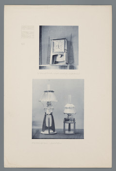 Haus Olbrich, Darmstadt: Standuhr, Petroleumlampen (Blatt 141 aus den