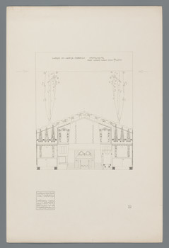 Haus Olbrich, Darmstadt: Halle, Kaminseite (Blatt 30 aus den