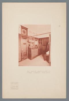 Haus Olbrich, Darmstadt: Rotes Gastzimmer, Uhrwand (Blatt 17 aus den
