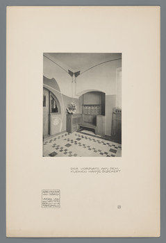 Kleines Haus Glückert, Darmstadt: Vorplatz (Blatt 23 aus den