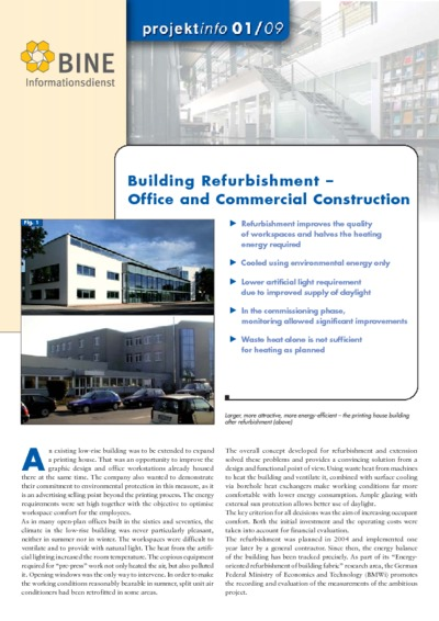 Building Refurbishment - Office and Commercial Construction.