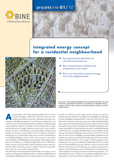 Integrated energy concept for a residential neighbourhood.