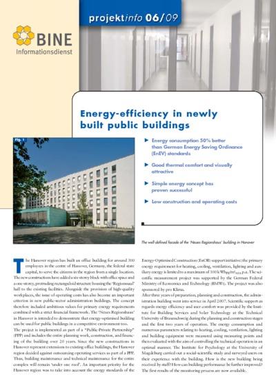 Energy-efficiency in newly built public buildings.