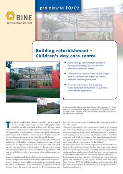 Building refurbishment - Children's day care centre.