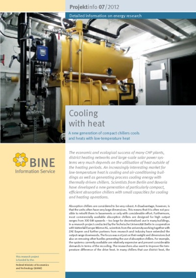 Cooling with heat. A new generation of compact chillers cools and heats with low-temperature heat.