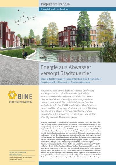 Energie aus Abwasser versorgt Stadtquartier. Konzept für Hamburger Neubaugebiet kombiniert erneuerbare Energietechnik mit innovativer Stadtentwässerung.