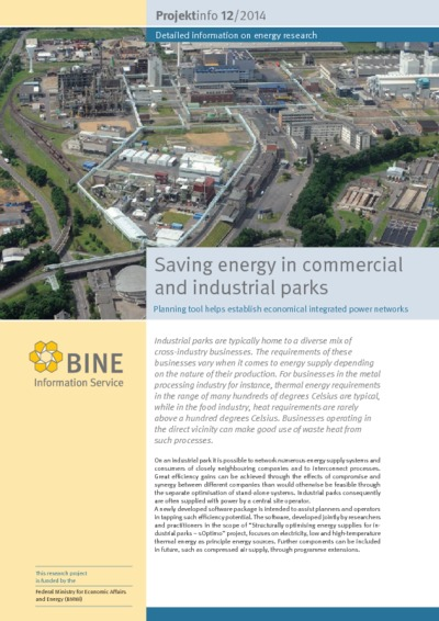 Saving energy in commercial and industrial parks. Planning tool helps establish economical integrated power networks.