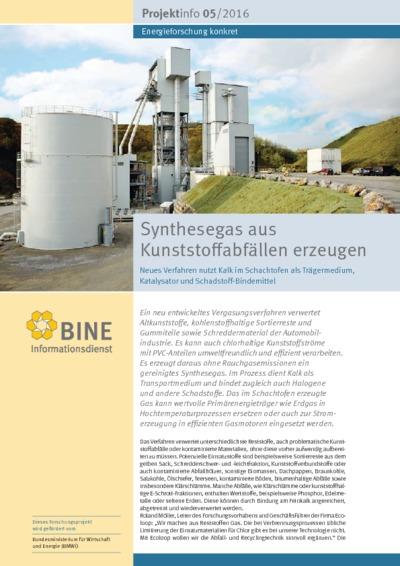 Synthesegas aus Kunststoffabfällen erzeugen. Neues Verfahren nutzt Kalk im Schachtofen als Trägermedium, Katalysator und Schadstoff-Bindemittel.