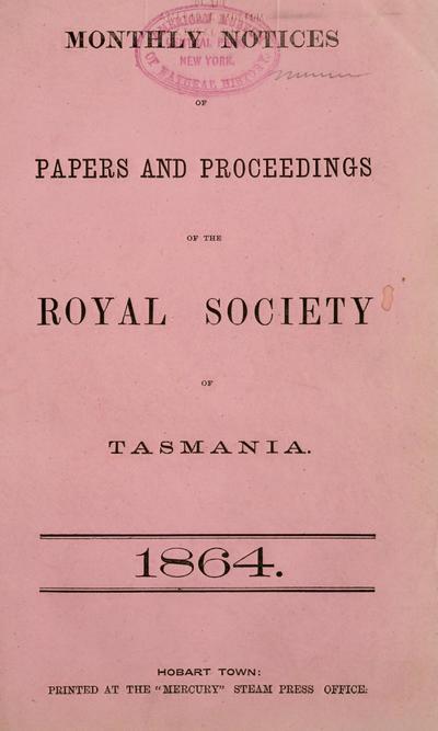 Pap. proc. R. Soc. Tasmania