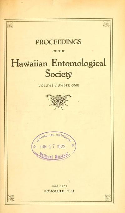 Proc. Hawaii. Entomol. Soc.