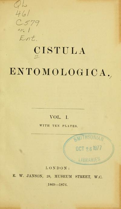 Cistula entomologica.