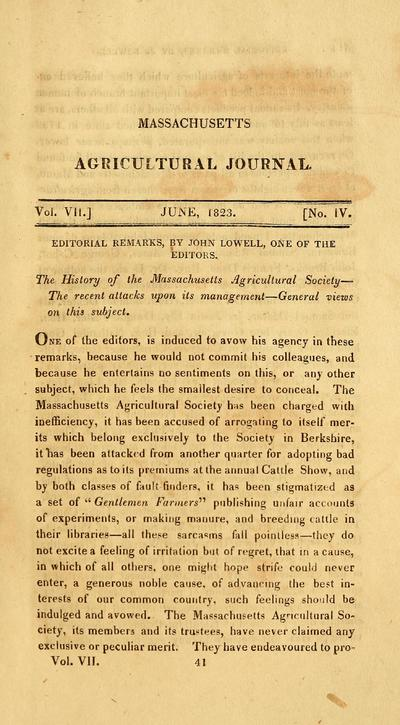 Massachusetts agricultural repository and journal