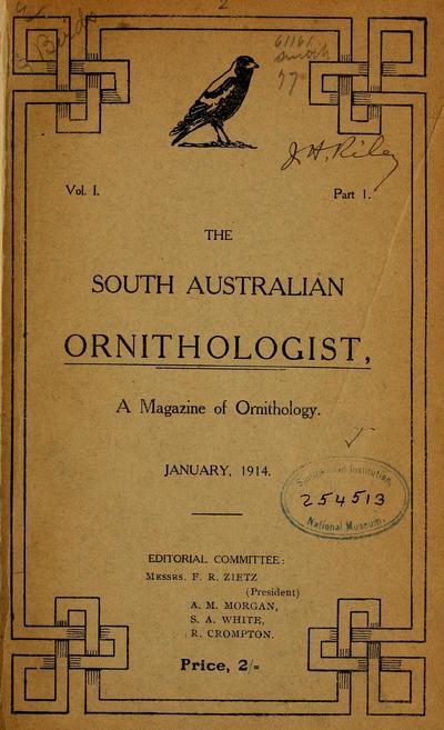 South Aust. ornithol.