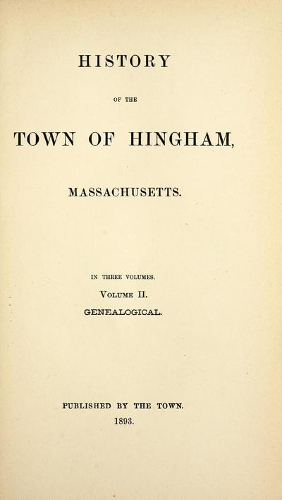 History of Hingham
