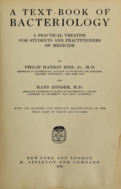A text-book of bacteriology, : a practical treatise for students and practitioners of medicine /