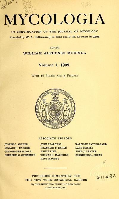 Mycologia index.