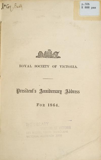 President's anniversary address for 1864 /