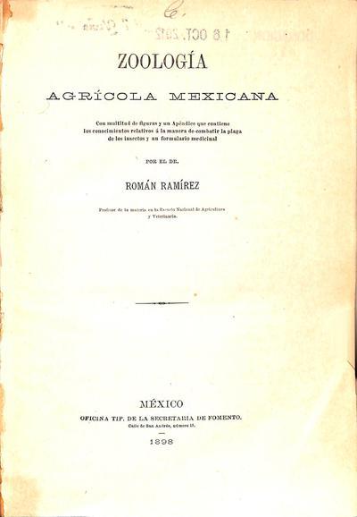Zoología agrícola mexicana /