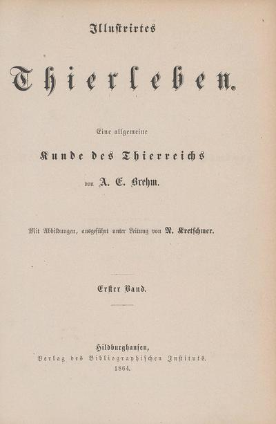 Illustrirtes Thierleben /