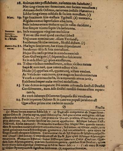 Philosophia antiquissima Norvego-Danica dicta Woluspa quae est pars Eddae Saemundi, Eddâ Snorronis non brevi antiquioris