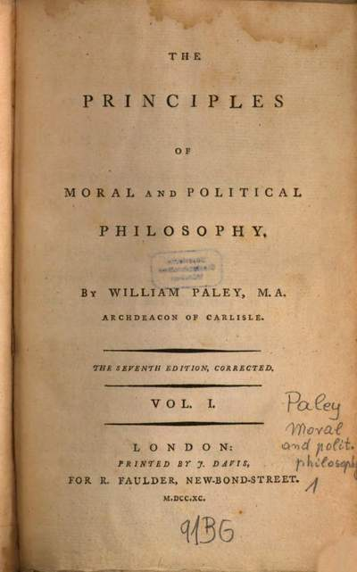 ˜Theœ Principles Of Moral And Political Philosophy. 1