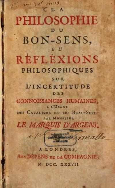 ˜Laœ philosophie du bon-sens