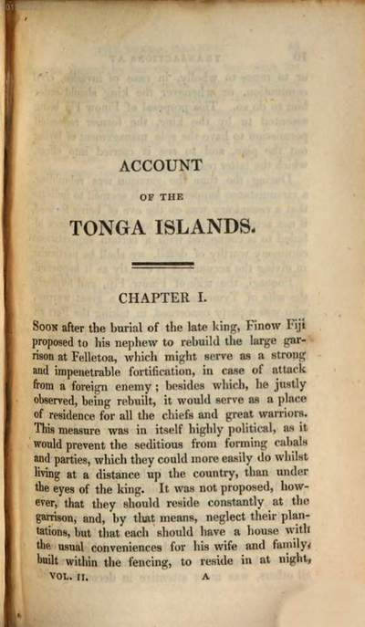 ˜Anœ account of the natives of the Tonga Islands, in the South Pacific Ocean :with an original grammar and vocabulary of their language ; in two volumes. 2