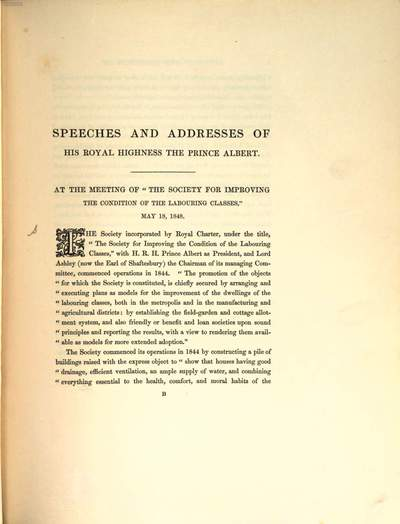 Addresses delivered on different public Occasions by His Royal Highness the Prince Albert, President of the Society for the Encouragement of Arts, Manufactures and Commerce :Published by the Society of Arts
