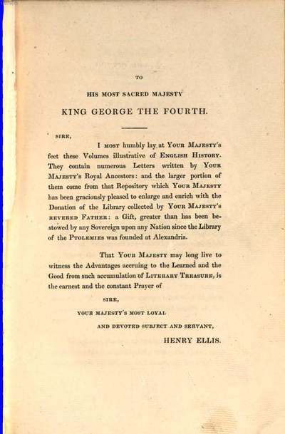 Original letters, illustrative of English history :including numerous royal letters: from autographs in the British Museum, and one or two other collections ; with notes and illustrations ; in three volumes. 1